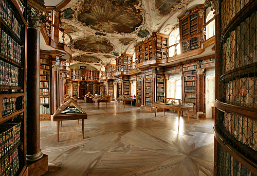 Guest at Abbey Library St. Gall