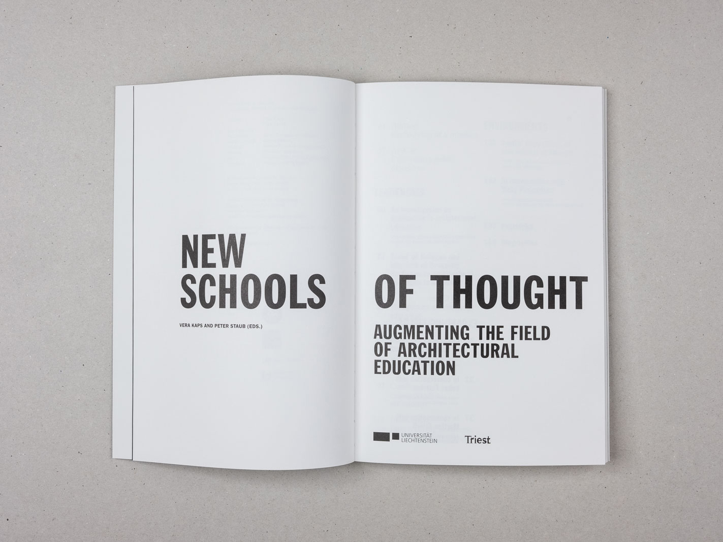 New Schools of Thought - 1
